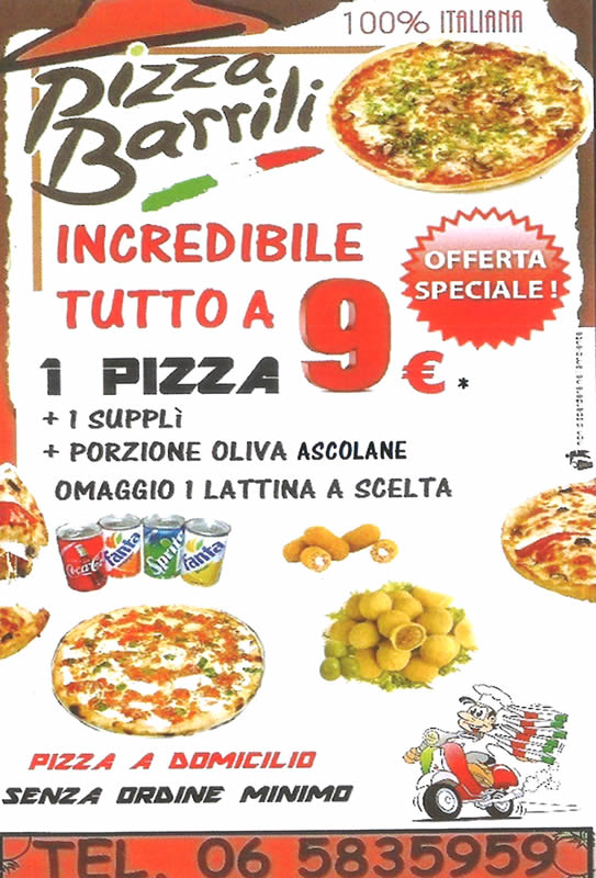 Pizzeria Tavola Calda zona Monteverde Roma – Barrili Pizza
