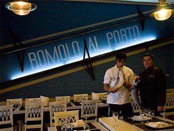 """Mangiare Pesce ad Anzio """" Romolo al Porto """""""
