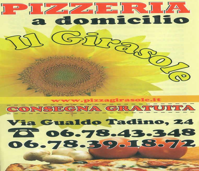 """Pizzeria a Domicilio Appia Roma """" Il Girasole """""""
